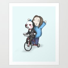 Nancy & Billy Art Print