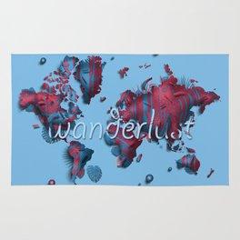 world map vintage decor wanderlust Rug