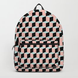 Geometric Pink and Green Pattern Backpack