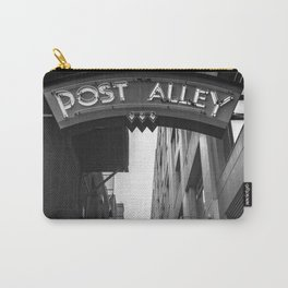 Post Alley in Seattle Washington - Black and White Carry-All Pouch