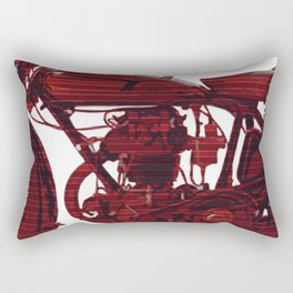 Red motorcycle lines Rectangular Pillow