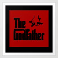 godfather Art Prints featuring The Godfather by SwanniePhotoArt