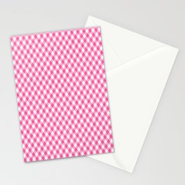 Pink Roses in Anzures 1 Gingham 1 Stationery Cards