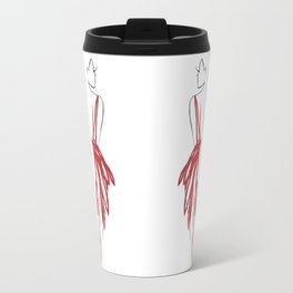 Red Silhouette Travel Mug