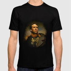 Nicolas Cage - replaceface Black Mens Fitted Tee LARGE