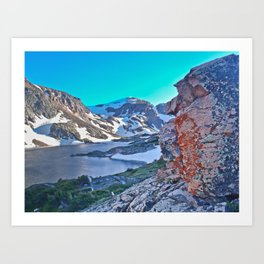 Froze To Death Lake Art Print