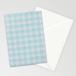 Light Grey Buffalo Plaid Stationery Cards
