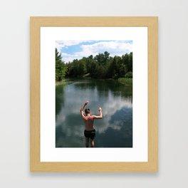 Jump Framed Art Print