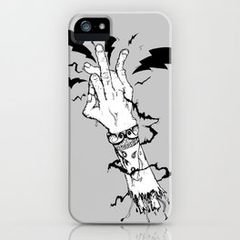 Electric Gang Signs! (B&W) iPhone Case