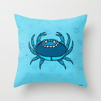cancer Throw Pillows featuring Cancer by Giuseppe Lentini
