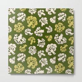 Pattern with cauliflower Metal Print