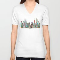 melbourne V-neck T-shirts featuring Melbourne by bri.buckley