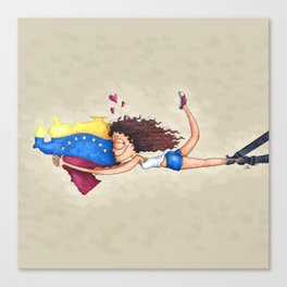 I love Venezuela Canvas Print