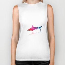 Geometric shark Biker Tank