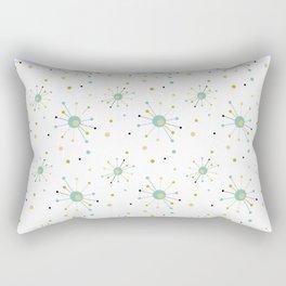 Atomic Starburst Mid-century Retro Pattern Rectangular Pillow