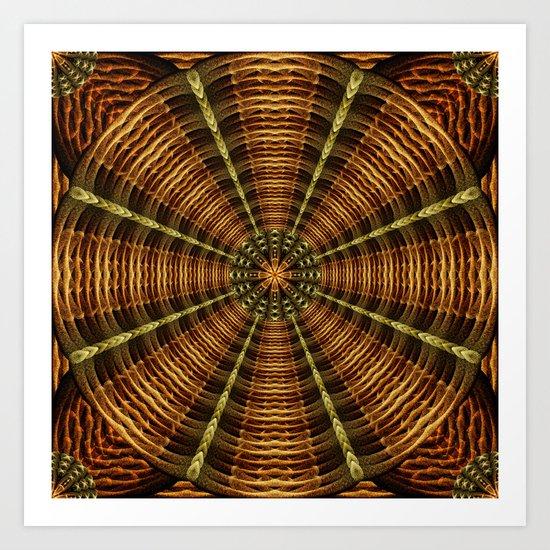 Ancient Temple Mandala Art Print