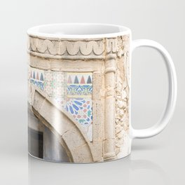 Ancient Blue Tiled Moroccan Door Coffee Mug