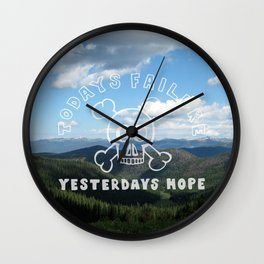 Todays Failure - Demotivational Poster Wall Clock
