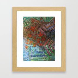 Blooming Lotus Flowers  Framed Art Print