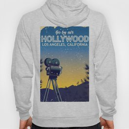Hollywood, Los Angeles,California travel poster Hoody