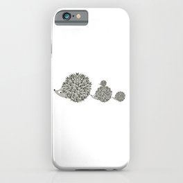 Hedgehogs family iPhone Case