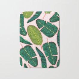 Banana Leaf Blush #society6 #decor #buyart Bath Mat