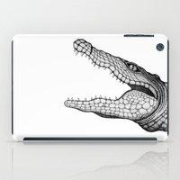 crocodile iPad Cases featuring Crocodile by Hannighan