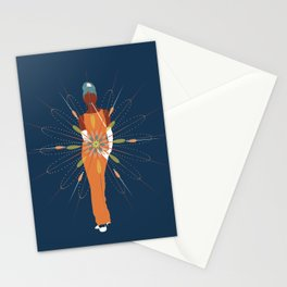 woman deterninated to shine Stationery Cards