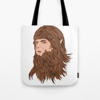 teen wolf Tote Bags featuring Teen Wolf by Joseph Botcherby