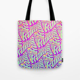 'Ecstacy' 70's Psych Poster Fade Pattern Tote Bag