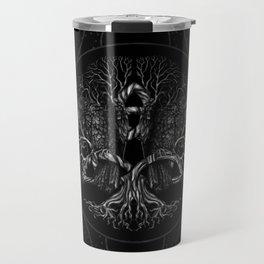 Tree of life -Yggdrasil with ravens Travel Mug