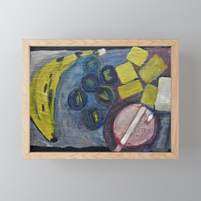 Still life with a banana Framed Mini Art Print