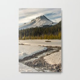 Marvelous Mount Hood at sunset Metal Print