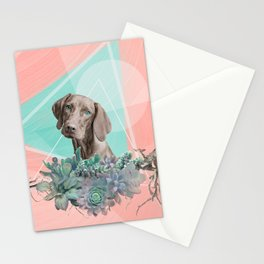 Eclectic Geometric Redbone Coonhound Dog Stationery Cards