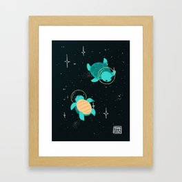 Space Turtles Framed Art Print