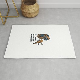 Pirate Skull Lets Get Ready To Rumble Rug