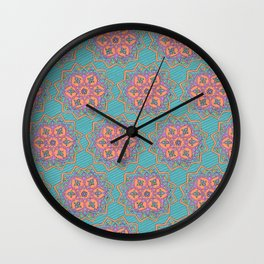 Iranian Tile Pattern Wall Clock