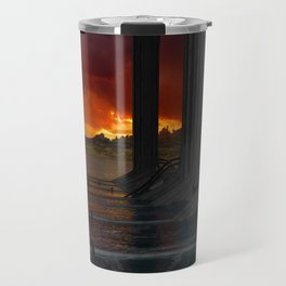 Drevos - Sci Fi - Sunset - Science Fiction - ZG 3D Travel Mug
