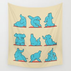 Elephant Yoga Wall Tapestry