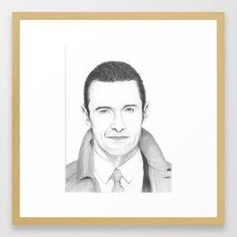 Smiling Hugh Framed Art Print
