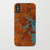 vintage map iPhone & iPod Cases featuring Vintage map by Larsson Stevensem