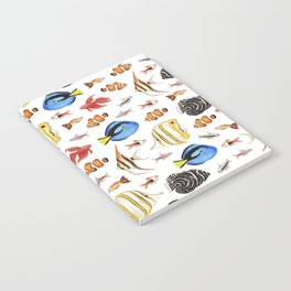 Tropical Fish on White - pattern Notebook