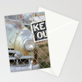 Keep Out Sign Stationery Cards