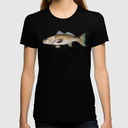 Redfish on white T-shirt