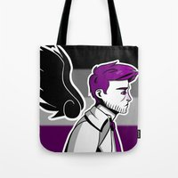 asexual Tote Bags featuring Asexual Cas by Dreki