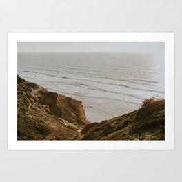 Cliffs at Torrey Pines Art Print
