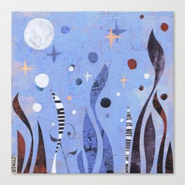 BLUE UNTITLED Canvas Print