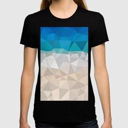Low poly beach T-shirt