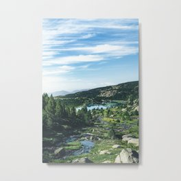 """Beautiful lake and  landscape scenery from """"El Carlit"""" in the Pyrenees! Metal Print"""