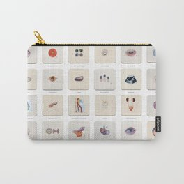 Morgue Mondays: 52 Weeks of Human Body Watercolor Paintings Carry-All Pouch